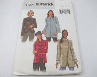 Butterick sewing pattern for misses and misses petite mandarin collar jacket pattern B4294