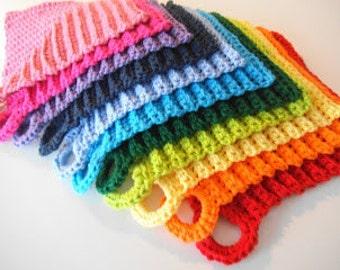 Mitered dishcloth/potholder crochet pattern