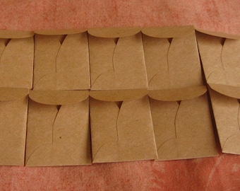 "100 Mini Brown Coin Envelopes - Recycled Brown Envelopes - Recycled Mini Coin Envelopes - Tiny Coin Envelopes - 1 3/8"" x 2"""
