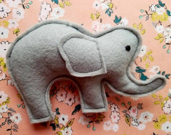 Catnip Elephant   Cute Felt Organic Catnip Cat Toy