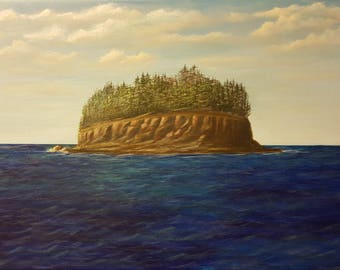 Surrealistic Island - Original acrylic painting