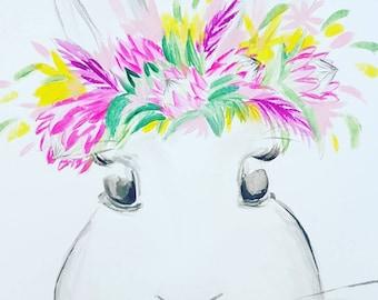 Custom Bunny Painting.