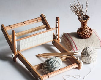 Weaving loom. Table loom. Rigid heddle loom. Weaving loom kit. Working section - 50 cm/19.7 inch