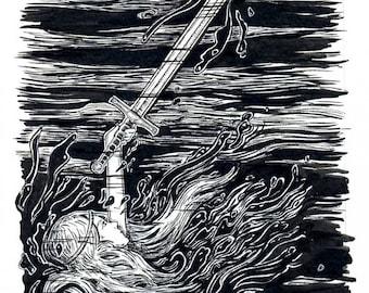 Excalibur - Original Art