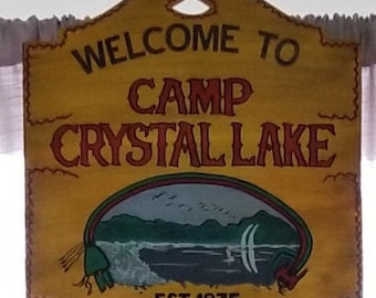 Friday the 13th Camp Crystal lake Sign, shelf size