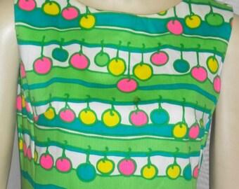 Vintage Mod Retro Jamison Boutique Shift Dress 8 Bright Baubles
