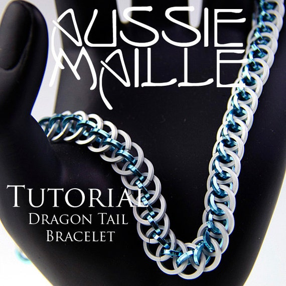 chainmaille tutorial dragon tail bracelet