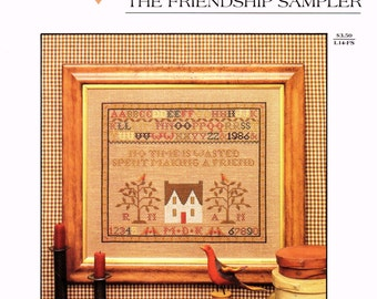 FRIENDSHIP SAMPLER The Need'l Love Company 18986 Counted Cross Stitch Leaflet