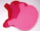 felt stomach id\/card holder or coin purse