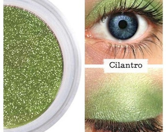 Green Eyeshadow, Best Green Shadow, Powder, Mineral Eye Color, For Brown Eyes, For Green Eyes, Natural Makeup, Vegan Cruelty Free, CILANTRO