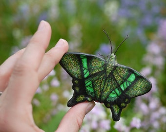 Emerald Swallowtail Butterfly Ornament