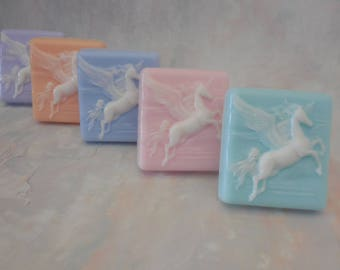 Unicorn Soap - Unicorn Party Favors - Pegasus Soap for Girls - Novelty Kids Soap - Pegasus Birthday Party - Pony Soap - Stocking Stuffers