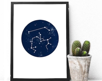 Couples Constellations Print - Couples Horoscopes - Anniversary Gift Idea - Engagement Gift Idea - Starcrossed Lovers - Written in the Stars