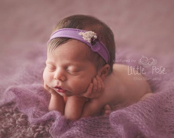 Pure Naturals Newborn Stretch Knit Wrap in Dreamy Lavender Lilac Purple