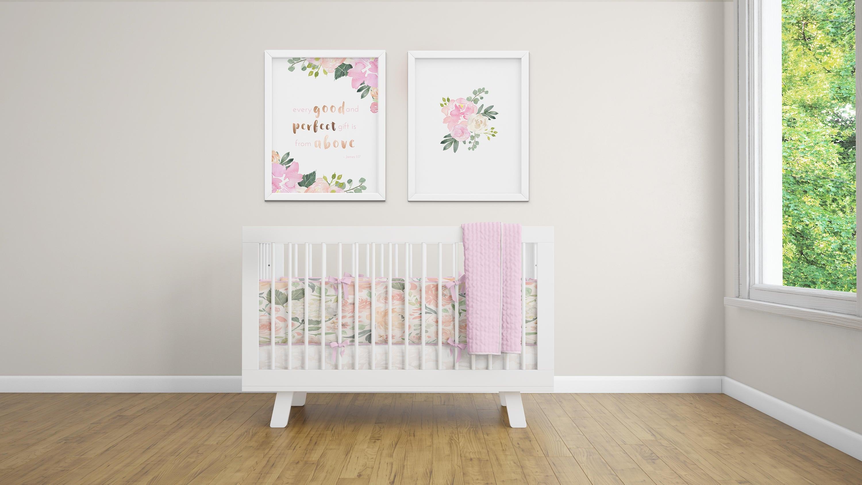 zoom Pink Floral Watercolor Art Baby Girl