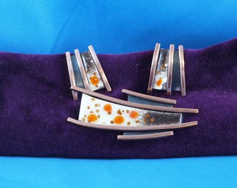 Matisse Brooch and Earring Set