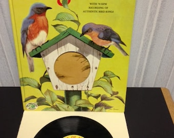 Songbird Picture Book with 78 RPM Record 1956
