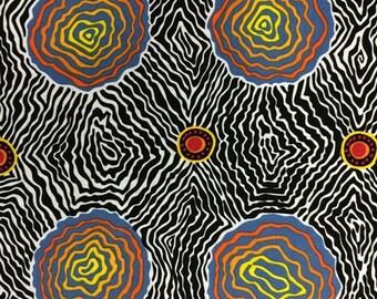 Australian Fabric - Salt Plain - Salt Pan - Crevice Lake - Aboriginal Fabric - Marie Ellis  - Priced by the half yard