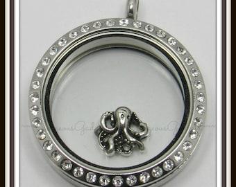 Octopus Floating Charm for Glass locket / Floating Locket / Memory Locket