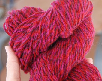 Red Wine cashmere and lambswool yarn