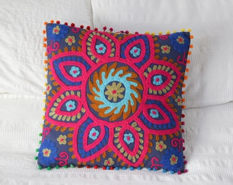Indian Cushion Cover Suzani Embroidered Hippy Cushion Cover