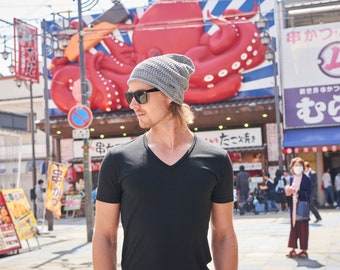 100% HEMP Summer Beanie - Seamless Breathable Beanie - Light Weight Beanie - Made in JAPAN - Organic - Chemo Hat - Slouchy - ls-hmp