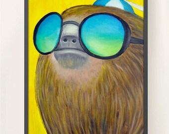 11 x 17 Sloth Family 3 Meme Poster Print