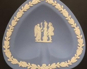 Wedgwood Blue Jasperware Spade Trinket Dish