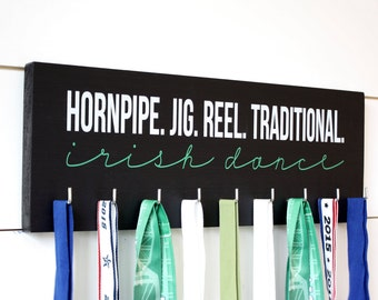 Irish Dance Medal Holder / Display - Hornpipe. Jig. Reel. Traditional. - Medium