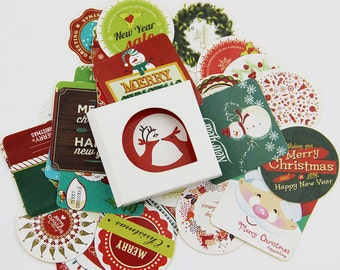 Set of 38 Christmas Stickers