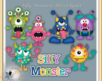Silly Monsters Clipart 2015