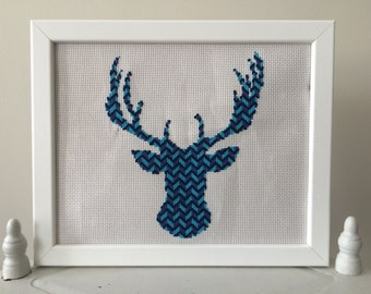 Cosmic Stag Cross Stitch Kit (14 Count Aida) | DIY Kit | Embroidery Kit