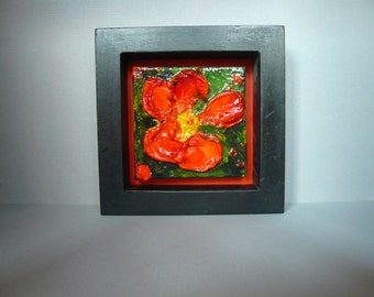 Framed Original Floral painting on canvas: No. 6