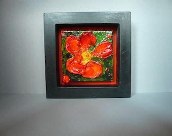 Framed Original Floral painting on canvas: No. 6