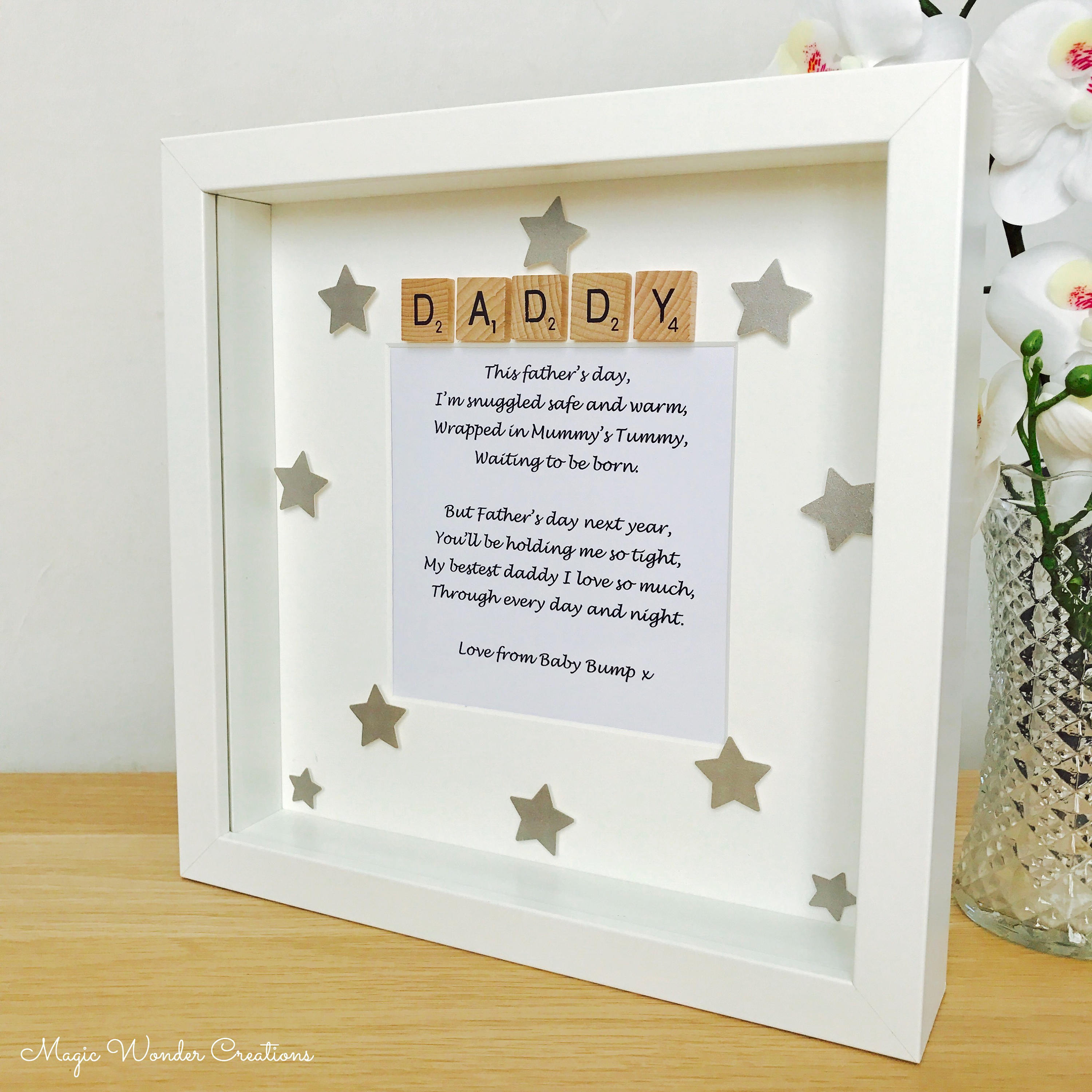 Fathers Day Love From The Bump Gift Fathers Day Bump Frame