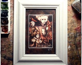 Carnival of Venice / Aceo print card / Carnival / Call of Venice / I remember / Gift / Pastels and china /