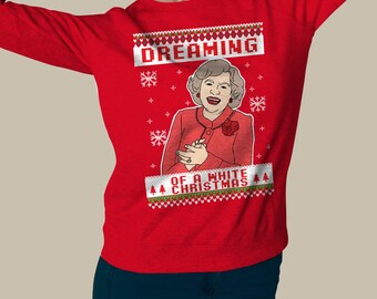Ugly Christmas sweater , Dreaming of a White Christmas , pullover sweatshirt #J