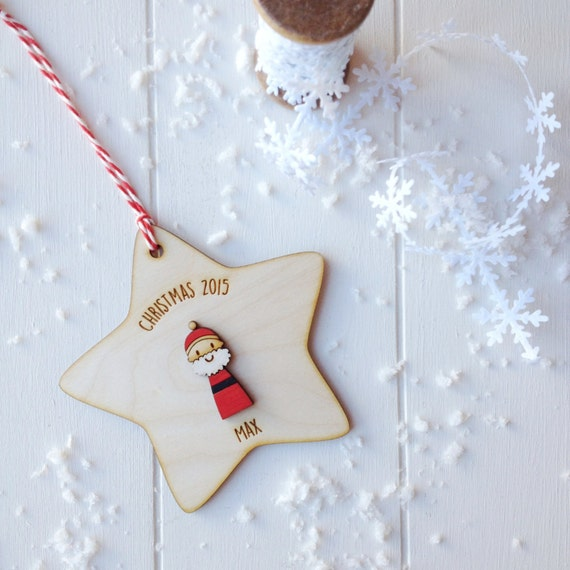 Father Christmas Tree Decoration - personalised tree decoration - keepsake decoration