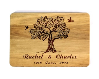 Personalized Cutting Board Wedding Family tree Custom Wedding gift Personalized Wedding Gift Kitchen decor Bridal Shower Gift Love Tree