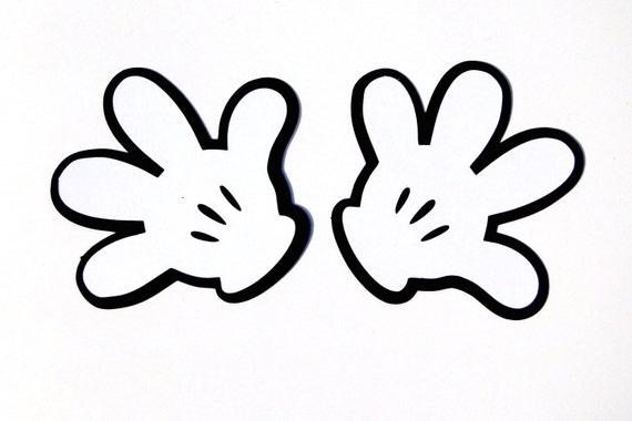 Mickey Mouse Hand Template Glove Die Cut Disneys