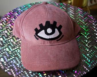 Handpainted eye pink baseballcap