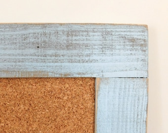 Extra LARGE BULLETIN BOARD Framed Cork Board 30x40 Home Office Decor Kids Art Display Shown in Pale Blue Many Color Options