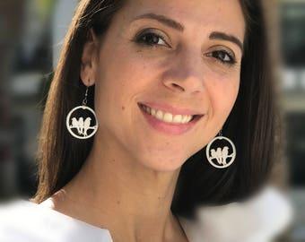3 Birds Earrings  Recycled earrings  Pierced earrings Dangle earrings Upcycled jewelry Recycled jewelry Mark Noll