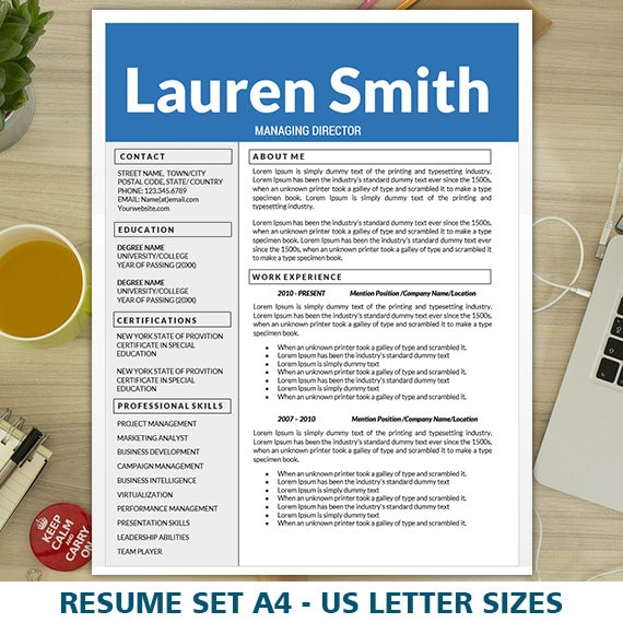 Modern Resume Design Cv Designs Cover Letter Template