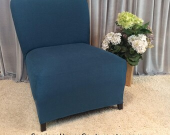 Nice More Colors. Slipcover Teal Suede Chair Cover ...