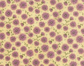 40% OFF SALE - PRINTS Charming Floral Mums in Lavender Berry 17841-16 - Sandy Gervais for Moda Fabrics  - By the Yard