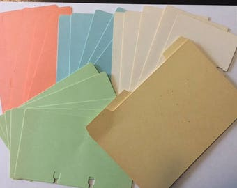 Set of 20 Vintage 3 x 5 Rolodex Cards and 3 Rolodex Dividers