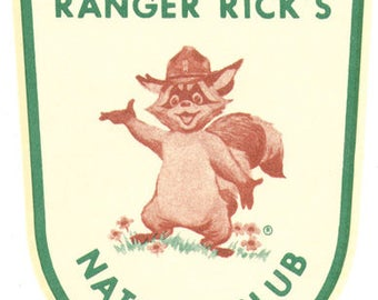 Vintage Style 1972 Ranger Rick Nature Club Member National Wildlife Federation Travel Decal sticker