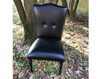 Armchair/chair restored to new ECO leather black color
