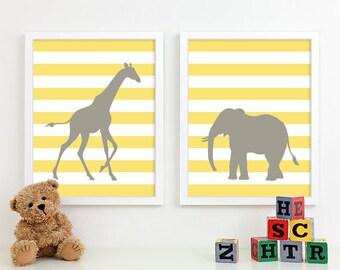 Safari Nursery Art, Zoo Nursery Print Animal Nursery Wall Art, Jungle Baby Nursery Decor Kids Art For Children Playroom